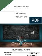 Algebra as Threshold Concept V3.0