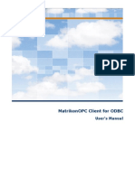 MatrikonOPC Client for ODBC User Manual