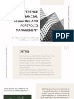 Difference Between Financial Planning and Portfolio Management