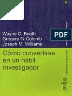 Booth - Como convertirse investigador