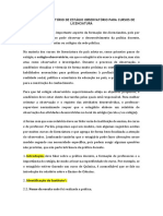 MODELO DE RELATÓRIO DE ESTÁGIO - CURSOS DE LICENCIATURA