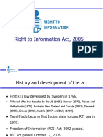RTI act overview