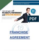 Franchise agreement letter