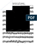 [Free Scores.com] Bach Johann Sebastian Concerto Major for Violin and Strings Solo Violin