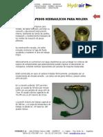 Acoples Rapidos Hidraulicos para Moldes - Hydrair SA