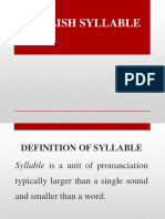 LECTURE 3- SYLLABLE