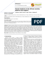 The place of traditional medicine in the African society