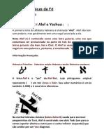 Raízes Hebraicas da Fé- Alef Bet e Yeshua