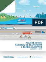 Plan de Acción Nacional de Transporte y Cambio Climático (PANTCC)