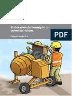 Elaboración de hormigón con cemento Holcim_