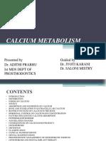 CALCIUM METABOLISM final