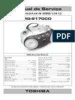 RÁDIO GRAVADOR AM_FM ESTÉREO COM CD RG-8170CD ESPECIFICAÇÕES TÉCNICAS. As especificações acima estão sujeitas a alterações sem prévia notificação