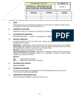 Model procedura - Controlul RMM (1)