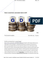 How countries calculate their GDP