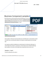 Business Component Samples