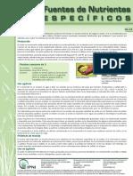 Fuentes de Nutrientes - IPNI - Azufre