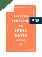Davis Lydia - Cuentos Completos