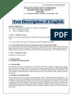 Grade- 8 Test Description ENGLISH