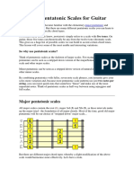 Different Pentatonic Scales for Guitar