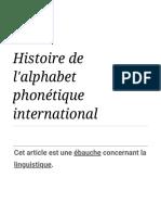 Histoire de l'alphabet phonétique international