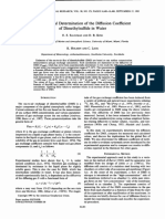 Experimental Determination of the Diffusion Coefficient of Dimethylsulfide in Water