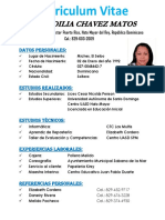 Curriculum Ana Chavez