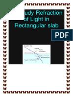 To Study Refraction of Light in Rectangular slab.docx