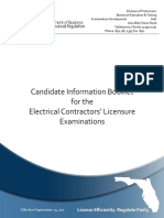 Electrical Contractors Certification Outline
