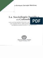 sociologia juridica en colombia- Jorge Carvajal