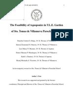 The Feasibility of Aquaponics in T.L.E. Garden of Sto. Tomas de Villanueva Parochial School.docx