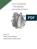 3° Informe de Mediciones. Mauricio Luzardo 2BI.