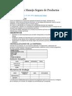 Manual para Manejo Seguro de Productos Químicos