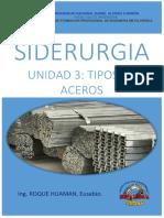 TIPOS DE ACERO (3RA UNIDAD - SIDERURGIA)