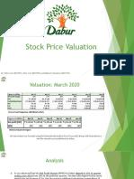 Stock Price Valuation_Dabur