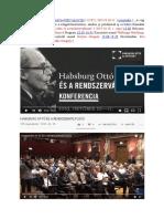 2019 10 10 Habsburg Ottó És a Rendszerváltozás MTA 1 Nap[1b]Pvpstudio Videó