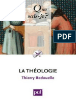 BEDOUELLE - La theologie - Bedouelle Thierry