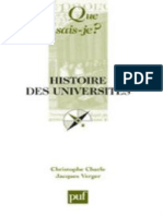 CHARLE-VERGER - Histoire des universites - Charle Christophe, Verger Jacques