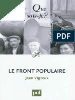 VIGREUX - Le front populaire - Vigreux Jean