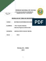 MODELOS DE TOMA DE DECICIONESss