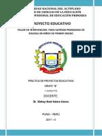PROYECTO DE INTERVENCION  DISLEXIA