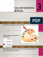 1º SIMULADO INTERATIVO DE MATEMÁTICA - 3º ANO - 2019