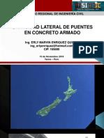 CAPACIDAD LATERAL DE PUENTES EN CONCRETO ARMADO