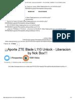 ¡¡¡Aporte ZTE Blade L110 Unlock - Liberacion by Nck Box!!! - NCK DONGLE - GSMDEC _ Foro de Telefonia celular.pdf