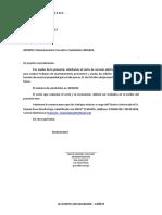 Carta LUZ DEL SUR - OCTUBRE 2019 Reproductora Roma