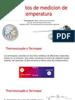 Elementos de medición de temperatura de tipo termopar
