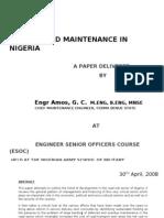 Road Maintenance in Nigeria