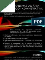 3.20 Problemas Del Área Económico - Administrativa