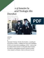 Tradiţie şi înnoire la Seminarul Teologic din Dorohoi