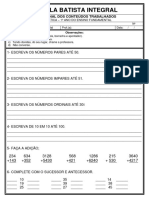 MODELO DE PROVA EBI - MATEMATICA