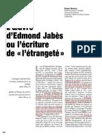 Jabès ou l'écriture de l'étrangeté